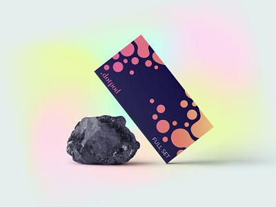 Dotpod full set package dots bubbles set packaging design minimal colorful vivid gradient juul pods package design packaging package