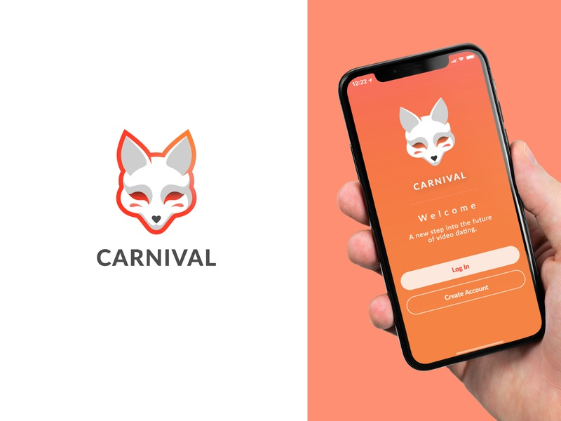 Logo & Icon for mobile app mask icon mask icons design logodesign simple logotype animal logo animal gradient character illustraion mobile app icon app fox logo fox logo