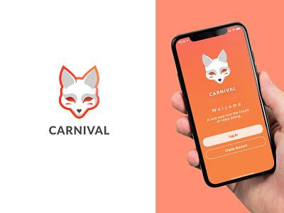 Logo & Icon for mobile app mask icon mask icons design logodesign simple logotype animal logo animal gradient character illustraion mobile app icon app fox logo fox logo