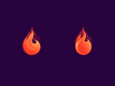 FIRE! FIRE! FIRE! in work work logomaker choice icon orange purple volume gradient icon gradient variants process in process fire icon fire logo fire