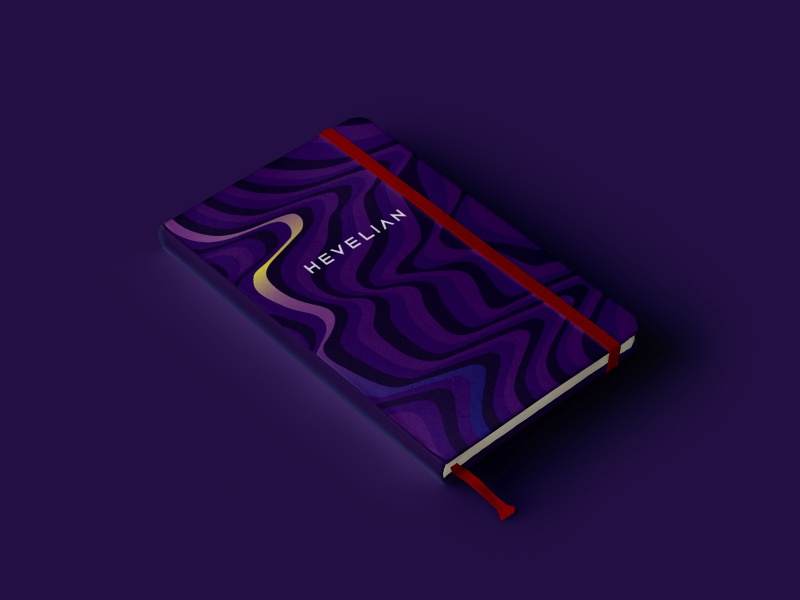 Hevelian brand identity polygraphy design polygraphy notebook gradient it company information technology branding brand red purple identity branding identity design identity