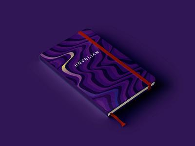 Hevelian brand identity polygraphy design polygraphy notebook gradient it company information technology branding brand red purple identity branding identity design identity