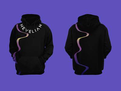 Hevelian brand identity branding clothes webpunk style rock lettering hoodie gradient fashion clothes brand design branding brand identity brand black