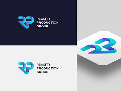 Logo for software company volumetric information technology modern monogram letterlogo apps isometric volume letters p r rp logomaker logodesign logotype logo software gradient augmented reality