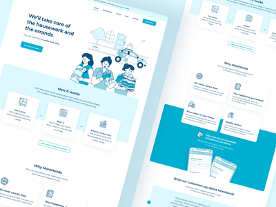 MoreHands: New home digital design illustration web uxdesign ux uidesign ui