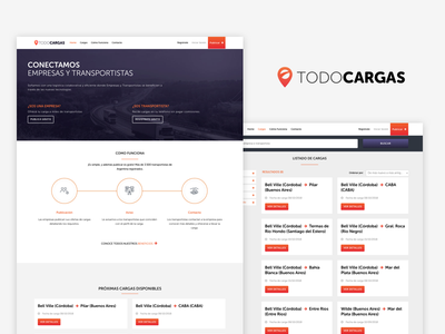 Todo Cargas branding web uxdesign ux uidesign ui design digital