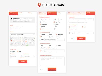 TodoCargas web uxdesign ux ui uidesign design digital