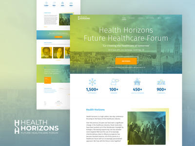 Health Horizons ux ui branding logo web uidesign uxdesign design digital