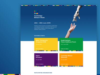 Cambridge Biotech Week Web ui ux branding web uxdesign uidesign design digital