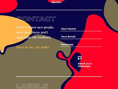 Music Landing vector branding web uxdesign ux ui uidesign design digital