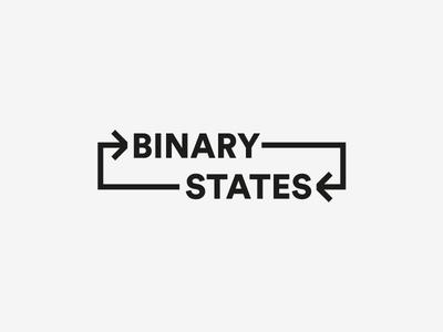 Binary States wordmark minimal indian typography logo identity graphic design design