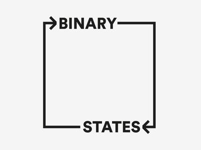 Binary States 2 wordmark minimal indian typography logo identity graphic design design