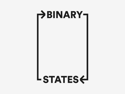 Binary States 3 wordmark minimal indian typography logo identity graphic design design