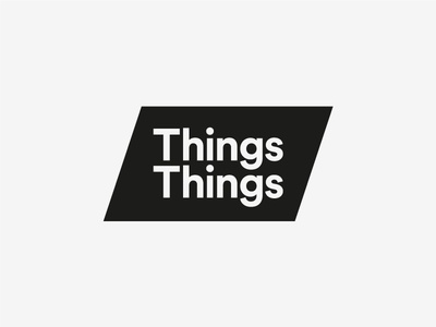 Things Things wordmark minimal typography logo identity graphic design design