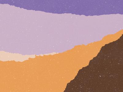 Torn Paper Arabian Nights torn paper branding illustration cream brown sand purple sky dusk texture design paper