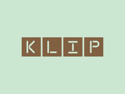 Klip Restaurant Branding word mark restaurant branding uae dubai type identity branding typography stencil bronze green