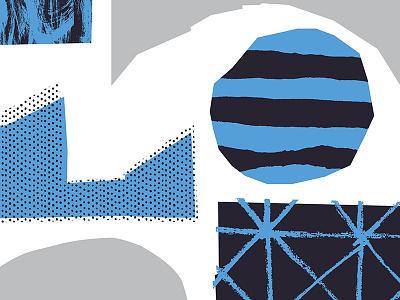 Abstract study art print minimal blue hand made mark making abstract illustration