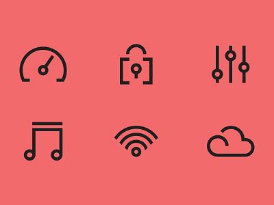 Spectra Icons icon set minimal logo design illustration icons branding iconography