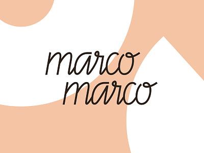 Marco Marco Logo italian contemporary custom typography handwritten graphic design design restaurant branding logo
