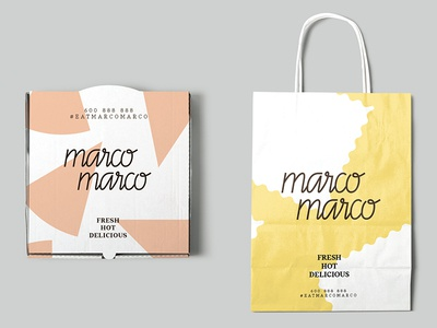 Marco Marco Packaging packaging logo design logo italian restaurant restaurant branding graphic design branding