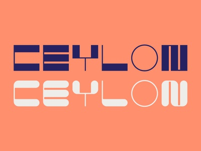 Ceylon Typeface display creative quirky rounded type typeface custom typeface geometric numbers typography
