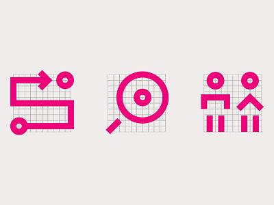 Icons & Grids lock vector minimal design geometric graphic design iconography icon