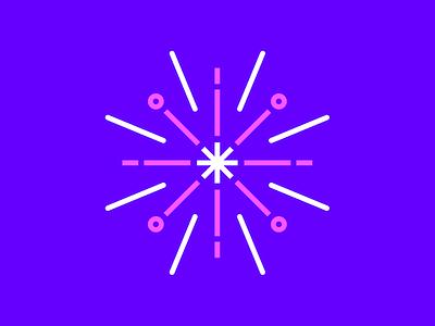 Firework app vector illustration branding logo design minimal geometric graphic design iconography icon
