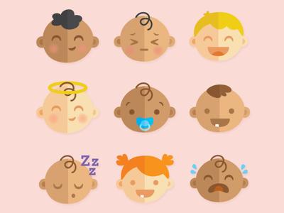 Baby Emojis animation childrens illustration illustration baby emoji