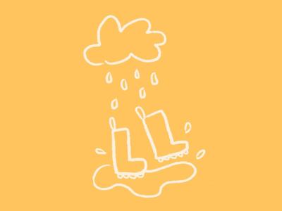 Dancing in The Rain Doodle childrensbooks rain yellow illustration