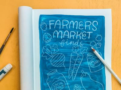 Farmers Market Finds editorialillustration illustration sketchbook gouache