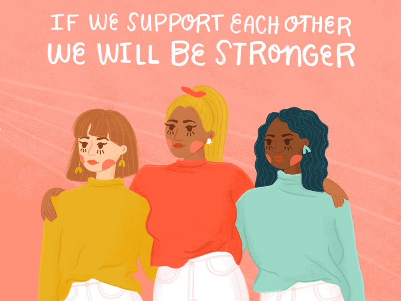 Women Supporting Women women womenempowerment editorialillustration illustration procreate