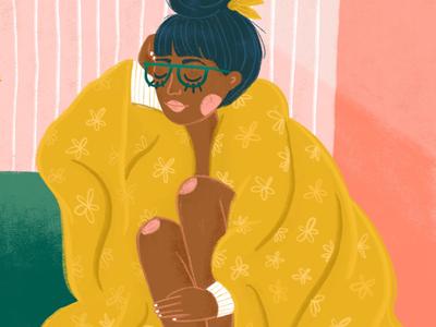 Cozy Corner women womenillustration procreate illustrationchallenge editorialillustration illustration
