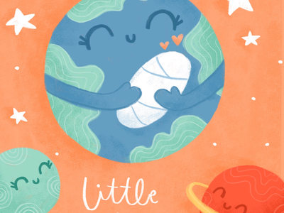 Welcome to the World Little One world planets childrensillustration illustration baby