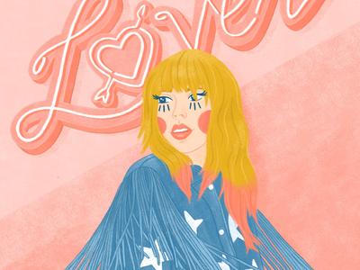 Taylor Swift: Lover womenillustration fringe typography illustration taylorswift