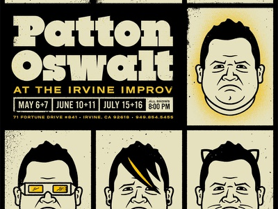 Patton Oswalt Poster king of queens ratatouille patton oswalt poster french paper illustration screenprinting face portrait