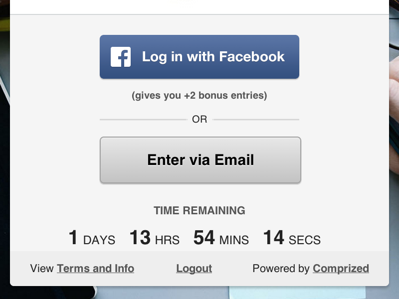 Comprized UI ui competition facebook email cta timer button modal