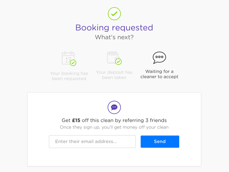 Booking Requested  booking requested referral step process ui