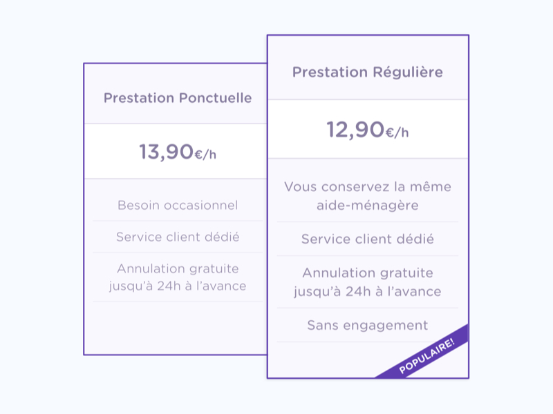 French pricing tiers price tiers pricing ui web euros france table product