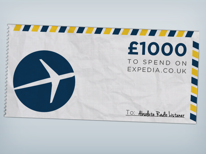 Expedia Ticket ticket absolute radio expedia competition