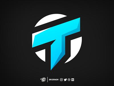 T Logotype Logo logotype lettermark branding esport drcrack esports gaming logo brand