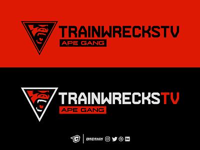 Trainwreckstv Official Logo and Wordmark logotype drcrack branding brand twitch trainwreckstv concept logo wordmark ape gang