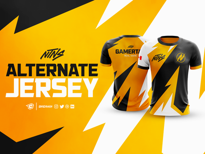 NTNS Gaming Alternate Jersey uniform branding esport esports gaming brand jersey mockup drcrack jersey design jersey