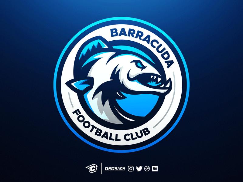 Barracuda Mascot Logo soccer fifa football badge drcrack esport esports gaming brand mascot logo logo mascot barracudas barracuda