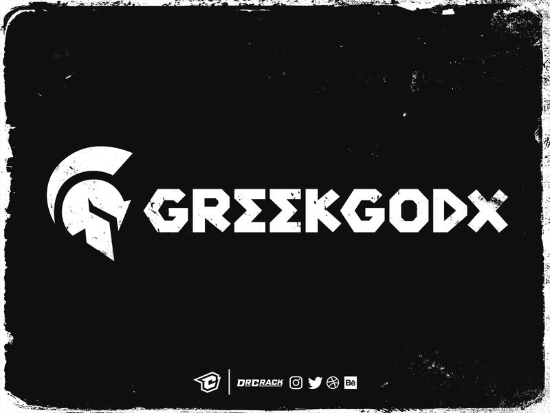 Greekgodx Official Logo and Wordmark branding brand drcrack twitch wordmark warrior helmet logomark symbol logo spartan greekgodx greek