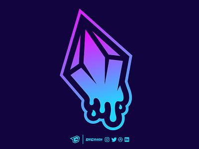 Dripping Gem Logo gaming esports esport drcrack logo brand gemstone ice melting dripping gem