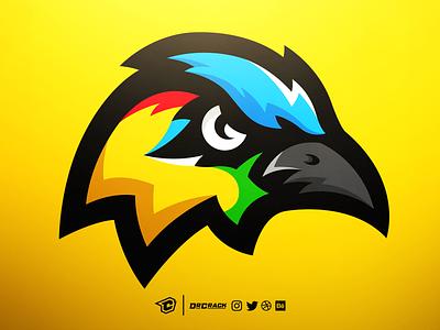 Motmot bird mascot logo branding brand bird logo drcrack gaming esports logo mascot bird motmot