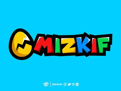 Mizkif Concept Logo drcrack mario branding wordmark mascot logo egg streamer gaming logo twitch mizkif