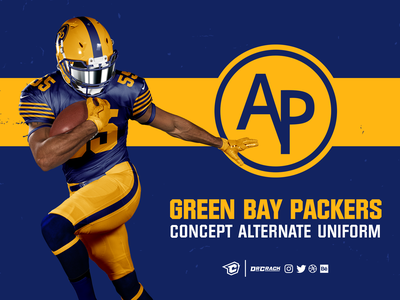 Green Bay Packers Throwback Uniform Concept retro drcrack acme packers throwback mockup concept uniform football nfl green bay