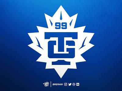 Maple leaf + TG logo drcrack logotype maple maple leaf leaf leafs gaming logo brand