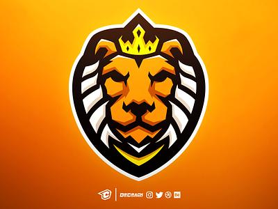 Lion Mascot Logo lions lion drcrack badge mascot logo mascot esport branding esports gaming logo brand